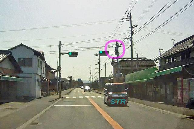 多度津町葛原 県道25号線のNシステム