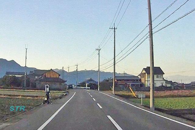 観音寺市大野原町中姫 県道24号線での可搬式オービスによる速度違反取締り