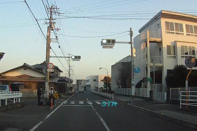 琴平町上櫛梨 県道206号上り車線 象郷小学校前での可搬式オービスによる速度違反取締り